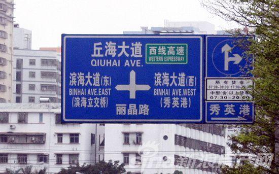 区位路标指示牌