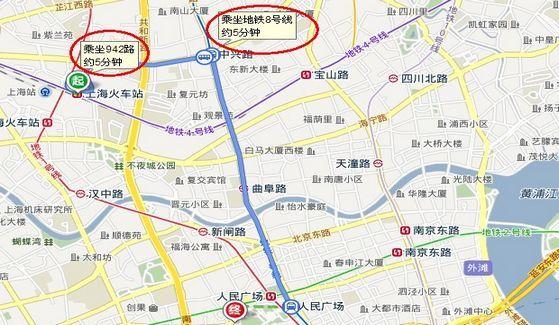 上海火车站到上海美术馆942路 → 地铁8号线路线图-海南楼盘中国行落图片