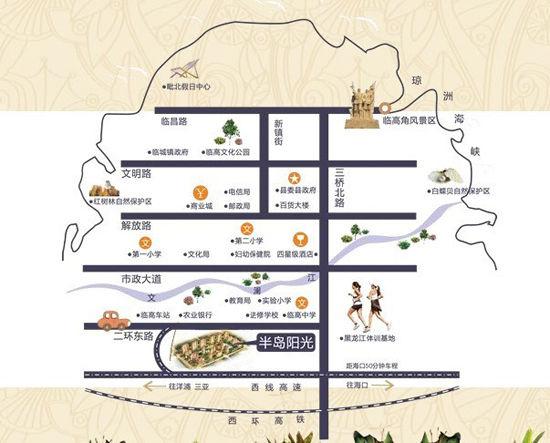 海口市三维地图